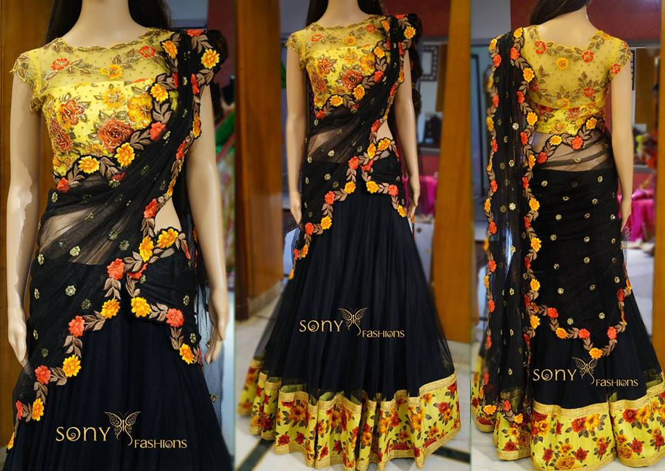 Traditional Halfsaree   Fashionworldhub
