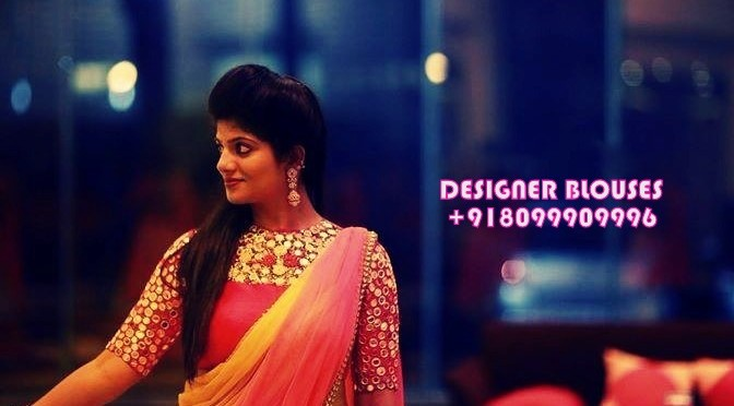 Maggam work designer blouses – Prabha Blouses