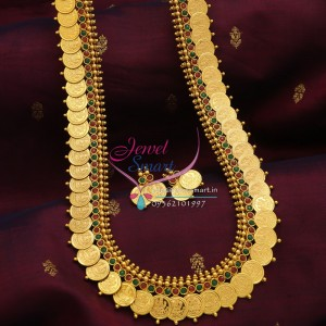 httpwww.jewelsmart.inIndian_Traditional_Long_Necklace_Haaram_Laxmi_Coin_Multi_Colour_Online_Shopping_1