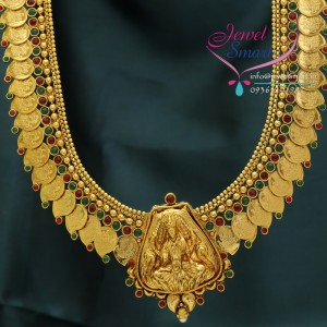 httpwww.jewelsmart.inTemple_Jewellery_Gold_Plated_Mango_Design_Coin_Traditional_Haaram_Long_Necklace_Ear_Rings_15
