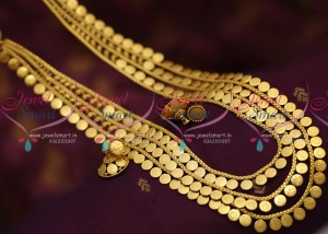 httpwww.jewelsmart.ingold-plated-jewellerynl7119-latest-lakshmi-coin-multi-strand-gold-design-haram-long-necklace-online