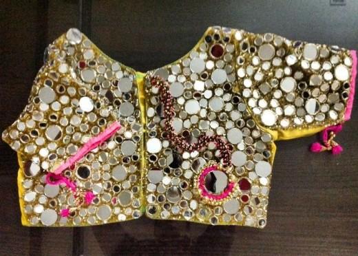 Top 50 Beautiful Mirror work blouse designs