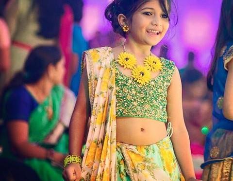 Beautiful designer kids lehengas
