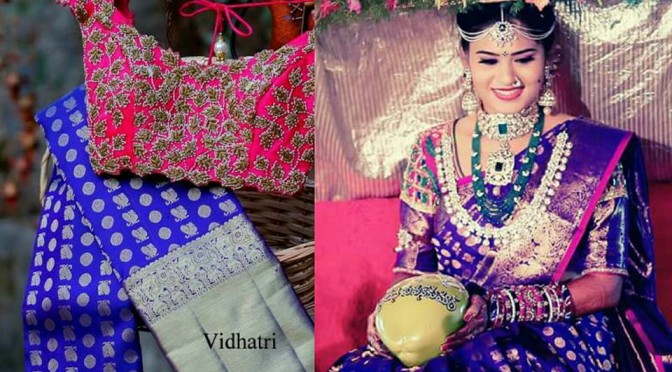 Brides in Vidhatri Kanjeevaram Sarees