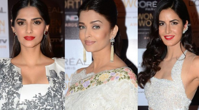 Sonam, Aishwarya and Katrina dazzle in white at an award show