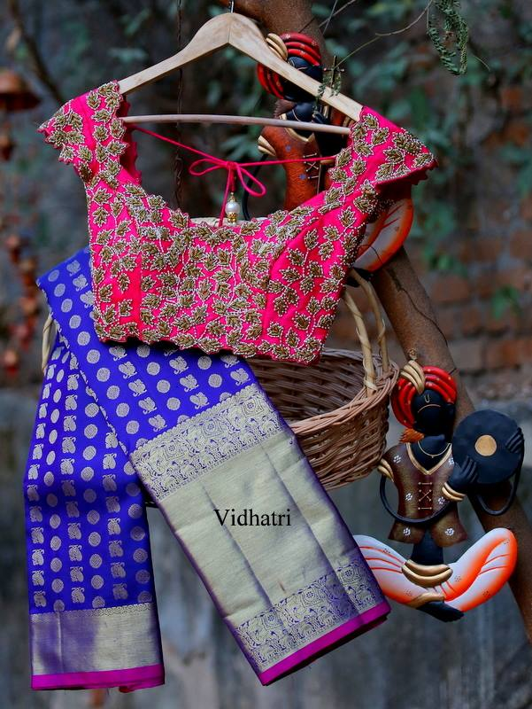 Another one for you!!pretty saree and blouse by Vidhatri!!