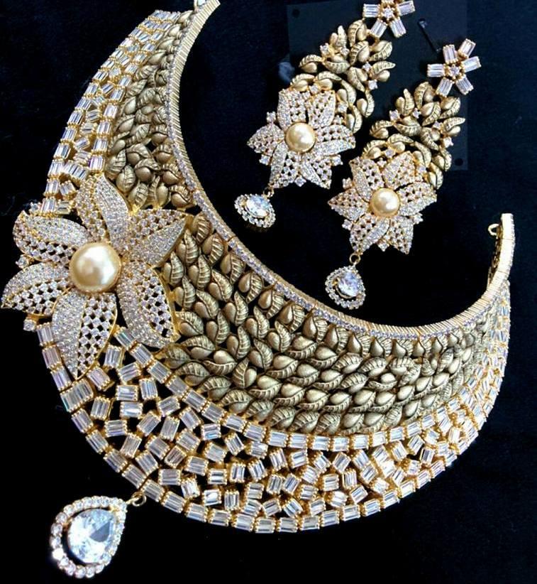 One Gram Gold Heavy Necklace Designs Fashionworldhub