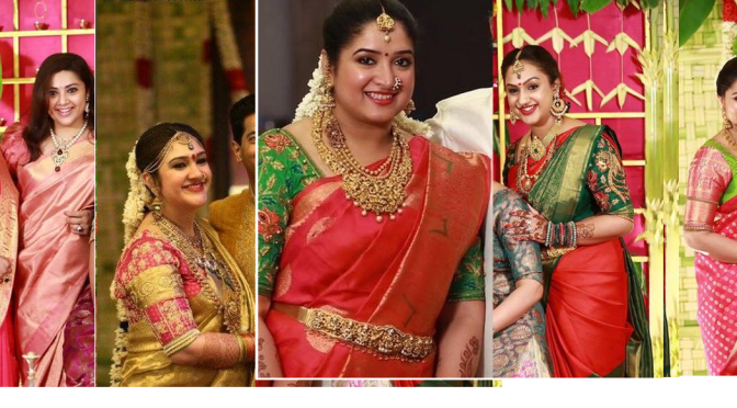 Celebrities in Kanjeevarm Saree