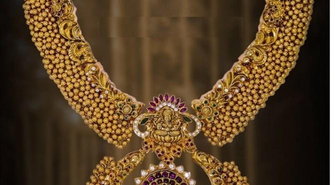 Antique ghungru necklace set