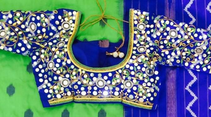Gorgeous Mirror Work blouse designs