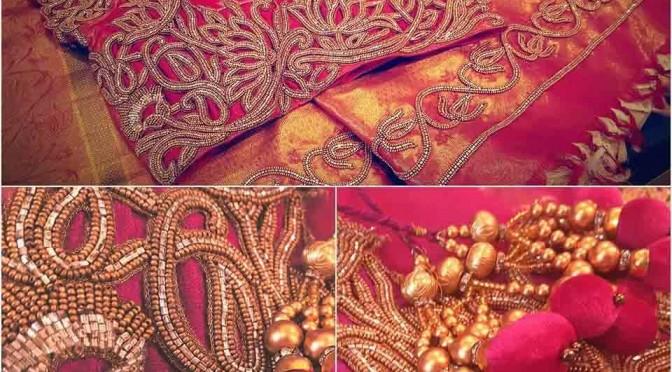 Beautiful Work on Saree & Blouse – Soucika!