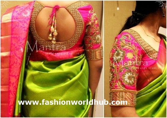 Saree blouse design patterns- Stylish   Fashionworldhub