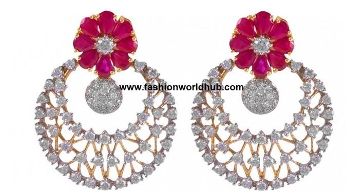 Oxidized gold -Diamond Ear rings- Buy online