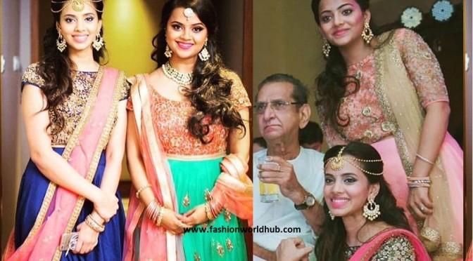 Gollapudi Sisters in Mrunalini Designs