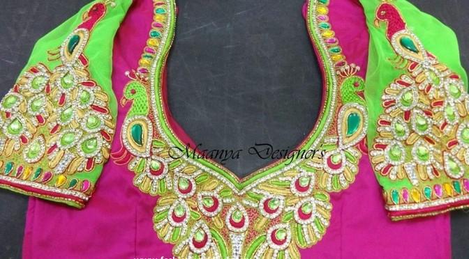 Maggam work blouses designs – Maanya Designer's