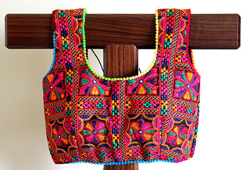 Kutch work blouse designs.