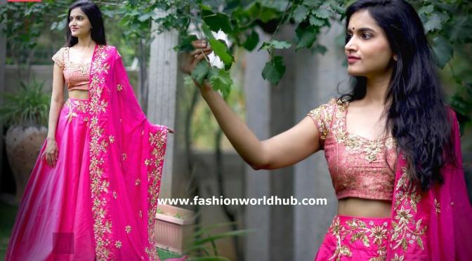Mithai pink Lehenga -Anitha Reddy design