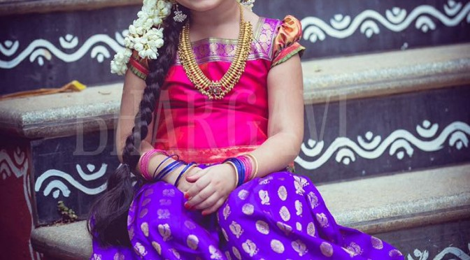 Kid's Lehanga-Bhargavi kunam creation