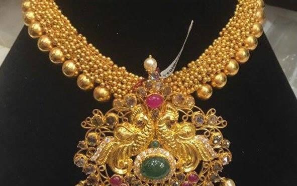 Antique Gajjalu haram – Jewellery designs.