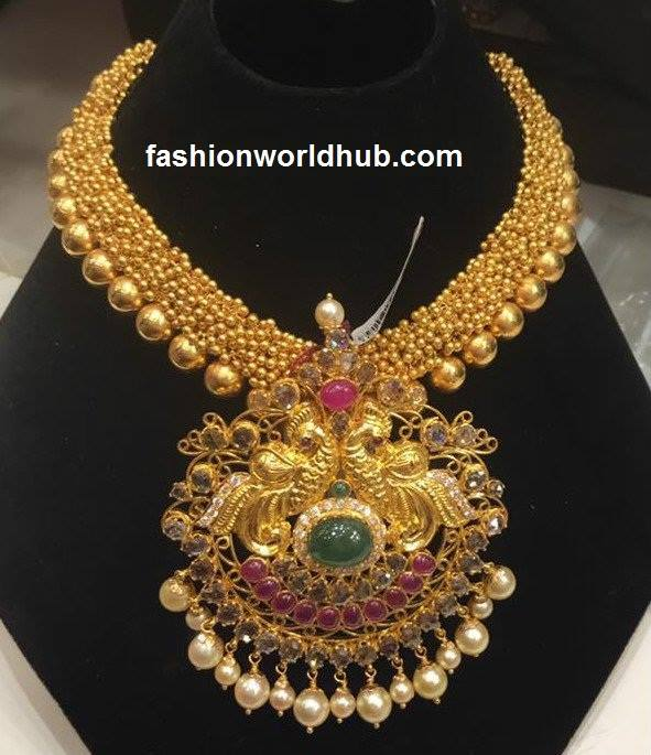 Antique Gajjalu Haram Jewellery Designs Fashionworldhub