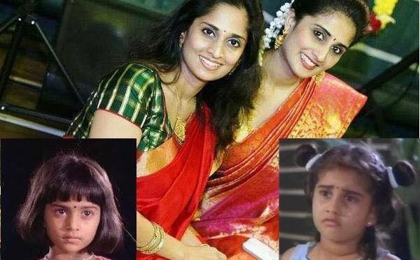 Baby Shamili And Shalini In Red Saree