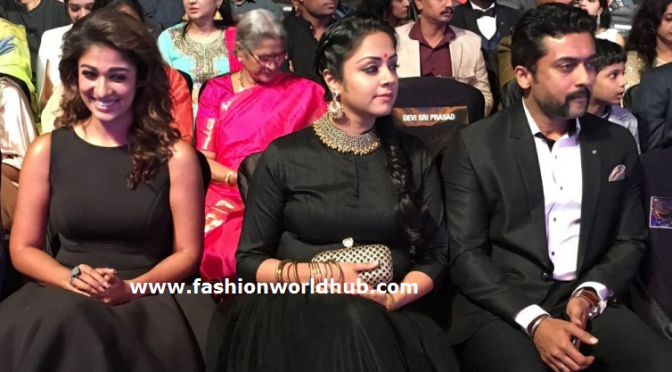 63 Film Fare Awards 2016 – Jyothika,Surya & nayanathara in Black