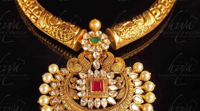 Antique Peacock Nakshi necklace