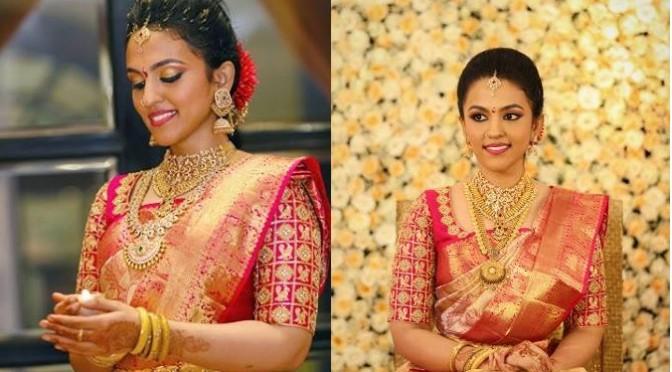 South Bride in Kanjeevarm saree~ Fashionworldhub