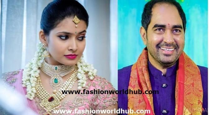 Director krish fiancee Dr ramya in Diamond jewellery