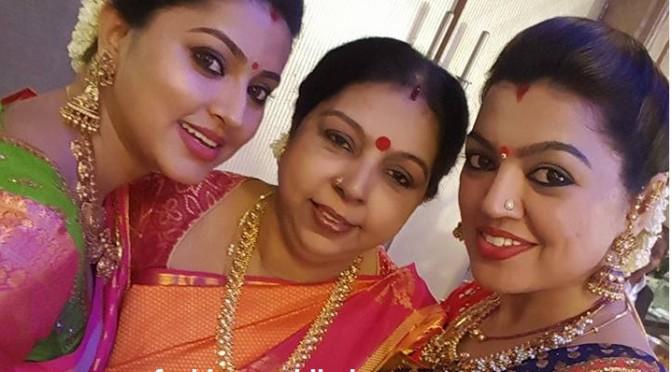 Sneha and Sangeeta in Heavy Antique Jumkhas- GRT Jewellers