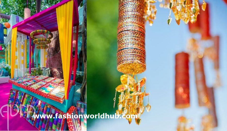 Wall Decoration Using Bangles : Innovative ways to use bangles in your wedding decor