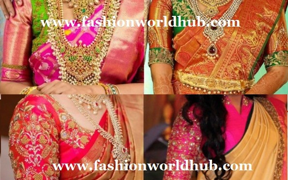 elbow_length_blouse_designs_for_wedding_kanjeevaram_sarees-595x600