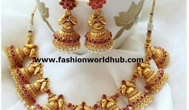 One gram gold Jumkha Necklace