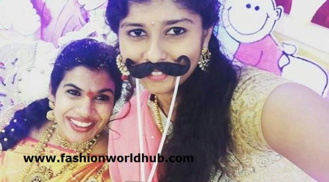 Sravana bhargavi Cute selfie with relative