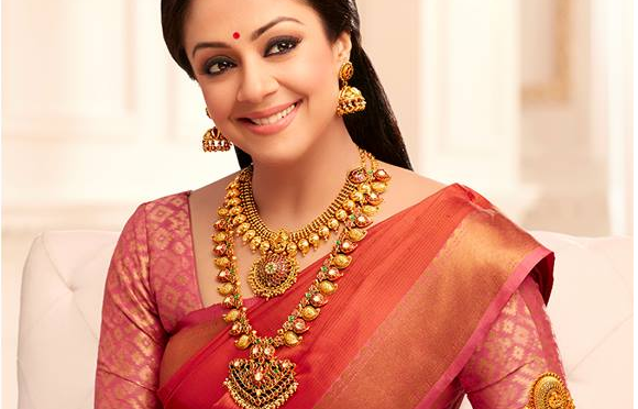 Jyothika in Kanjeevaram saree