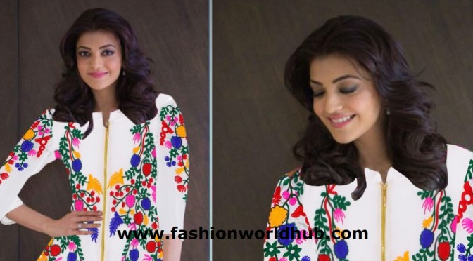 Floral Designed Kajal white kurti Just – Rs 575/-