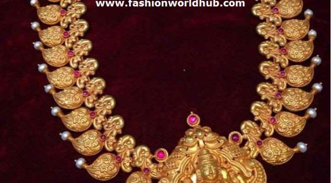 Mango Haaram With Lakshmi Devi Pendant Fashionworldhub