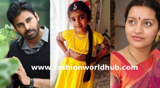 Former Couple Pawan Kalyan-Renu Desai daughter Aadhya in Traditional wear
