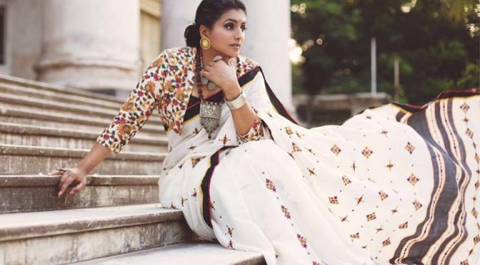 Actress Roja in handloom saree