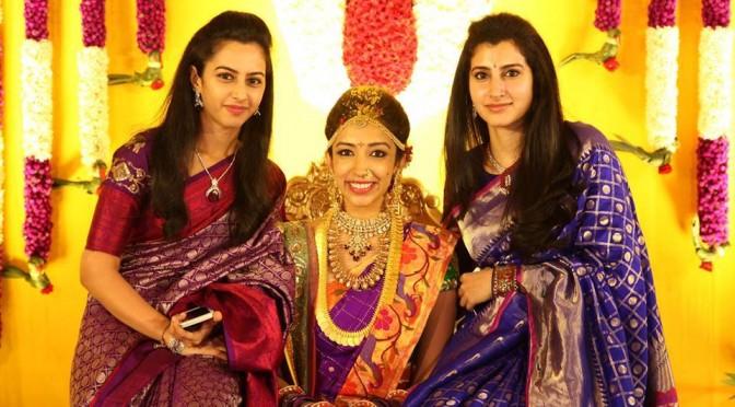 Nandamuri sister's in Kanjeevarm Sarees