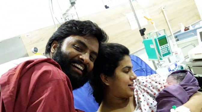 Vedala hemachandra blessed with baby girl