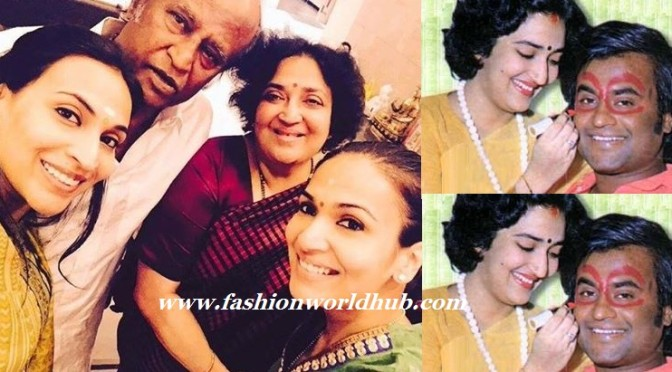 Rajanikanth & his Family Rare pictures