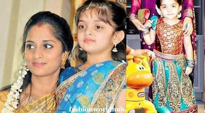 Shalini & her Daughter in Traditional wear