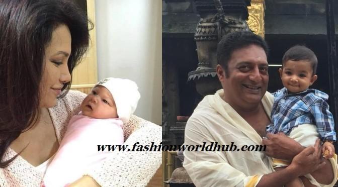 Prakash Raj Second wife & son photos