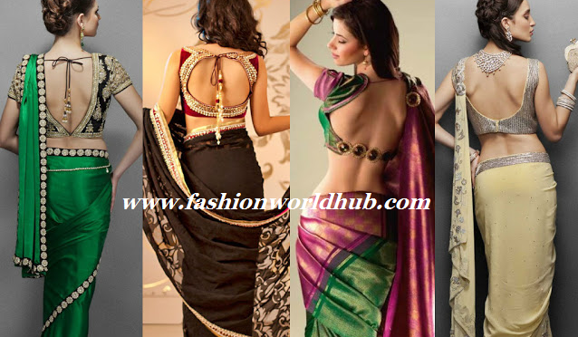 Top 15 Backless blouse designs
