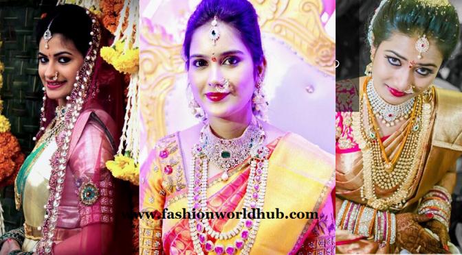 Brides in  Kanjeevaram sarees