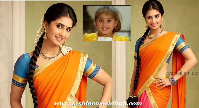 Baby Shamili in Traditional Half saree