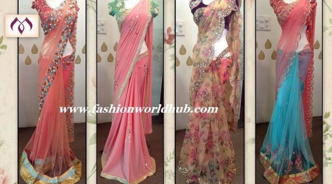 10 Beautiful Saree collections from Mugdha art Studio!