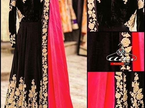 Floor length Anarkali Velvet Buy online