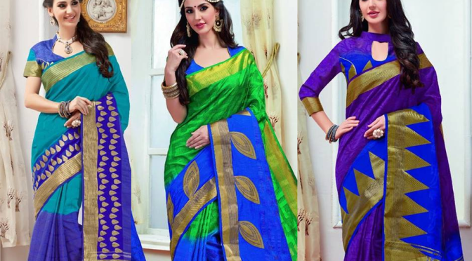 Tusser Embose with zari Saree- RS 1295 / – Buy online
